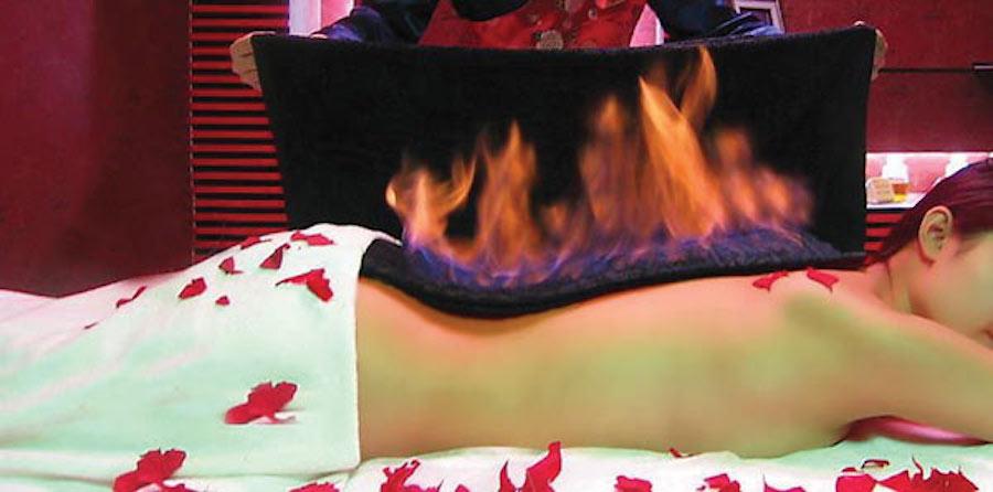 как делать огненный массаж