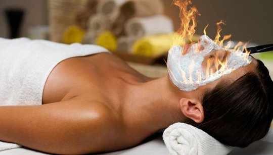 массаж огнём